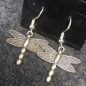 Jewelry - Dragonfly sterling silver earrings